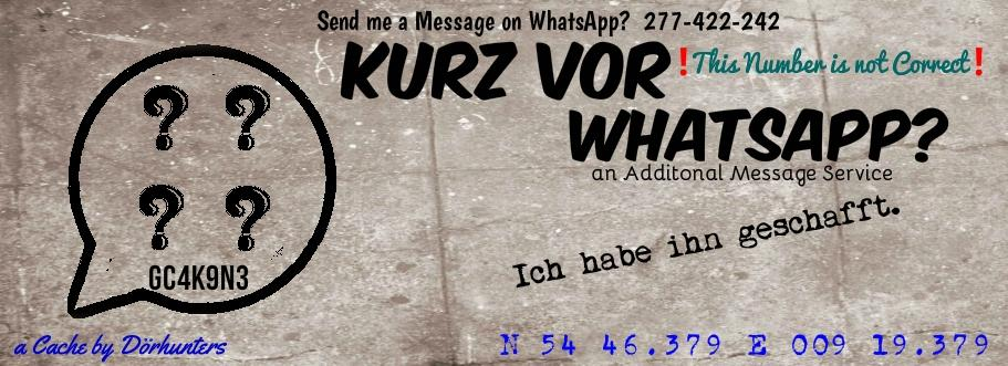 Kurz vor WhatsApp?