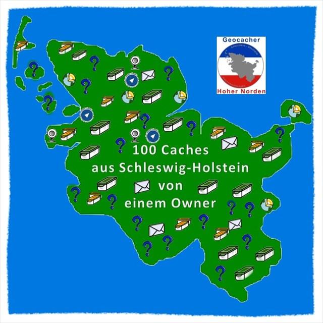 100 Caches von einem Owner (Cache Challenge)
