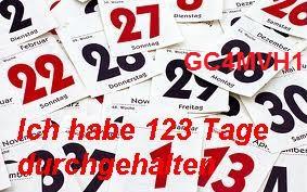 ( Challenge ) 123 Tage in Folge