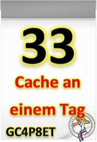 33 Cache an einem Tag Challenge (GCHN Edition)