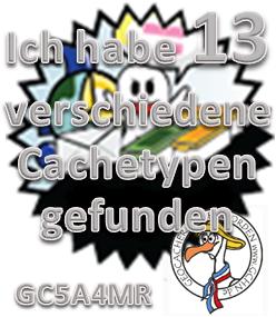 9 verschiedene Cachetypen - Challenge (GCHN-Edit)