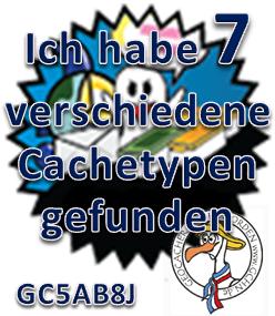 7 verschiedene Cachetypen - Challenge (GCHN-Edit)
