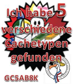 5 verschiedene Cachetypen - Challenge (GCHN-Edit)