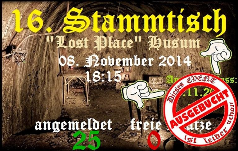 16. Stammtisch Lost Place Husum