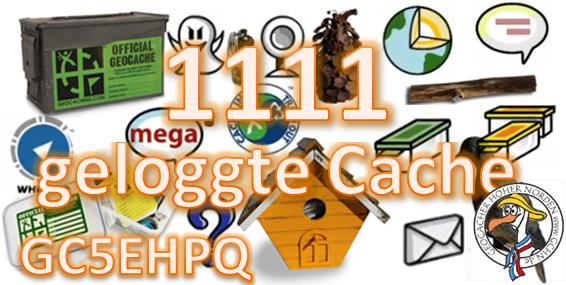 1111 geloggte Cache Challenge (GCHN-Edition)