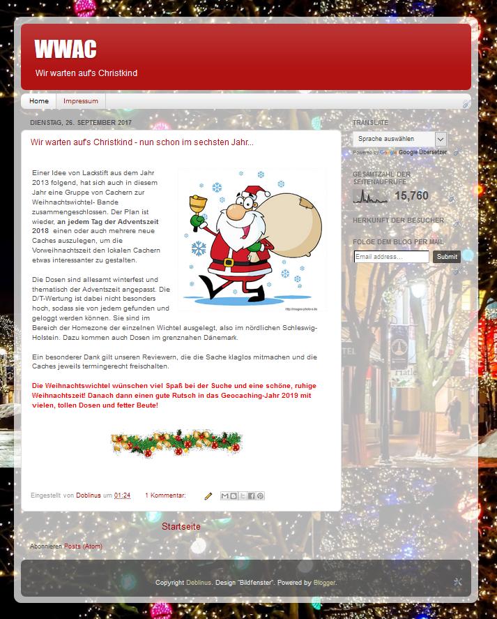 Frohe Weihnachten Und Alles Gute F303274r Das Neue Jahr.Geocaching Profil Fur Doblinus